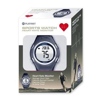 RELÓGIO SPORT WATCH PLATINET HEART RATE MONITOR PRETO/AZUL PHR117BL 43125